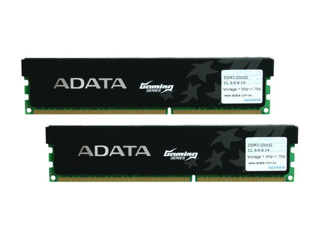 ADATA XPG Gaming Series 4GB (2 x 2GB) 240-Pin DDR3 SDRAM DDR3 2000G (PC3 16000) Desktop Memory Model AX3U2000GB2G9-2G