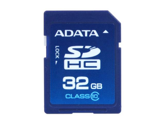 ADATA 32GB Class 10 Secure Digital High-Capacity (SDHC) Flash Card Model ASDH32GCL10-R