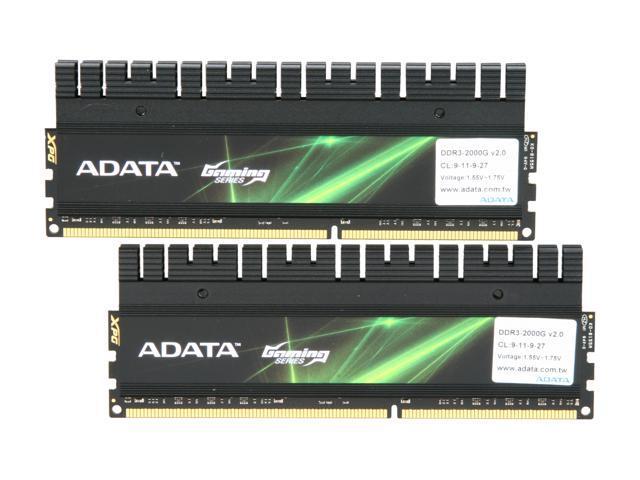 ADATA XPG Gaming v2.0 Series 8GB (2 x 4GB) 240-Pin DDR3 SDRAM DDR3 2000 Desktop Memory Model AX3U2000GC4G9B-DG2