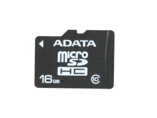 ADATA 16GB microSDHC Flash Card Model AUSDH16GCL10-R
