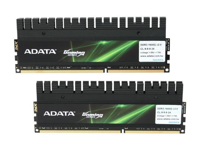 ADATA XPG Gaming v2.0 Series 8GB (2 x 4GB) 240-Pin DDR3 SDRAM DDR3 1600 (PC3 12800) Desktop Memory Model AX3U1600GC4G9-DG2