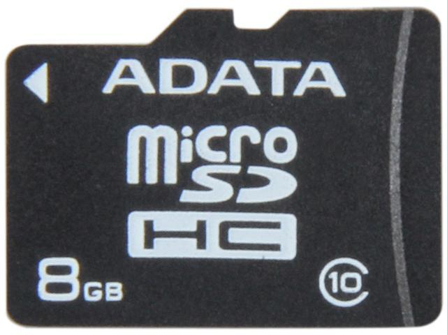 ADATA 8GB Class 10 Micro SDHC Flash Card Model AUSDH8GCL10-R