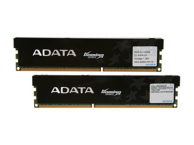 ADATA XPG Gaming Series 16GB (2 x 8GB) 240-Pin DDR3 SDRAM DDR3L 1333 (PC3L 10600) Desktop Memory Model AXDU1333GW8G9-2G