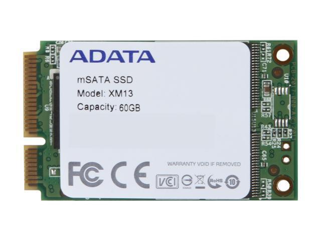 ADATA XM13 60GB Mini-SATA (mSATA) MLC Internal Solid State Drive (SSD) AXM13S2-60GM-C