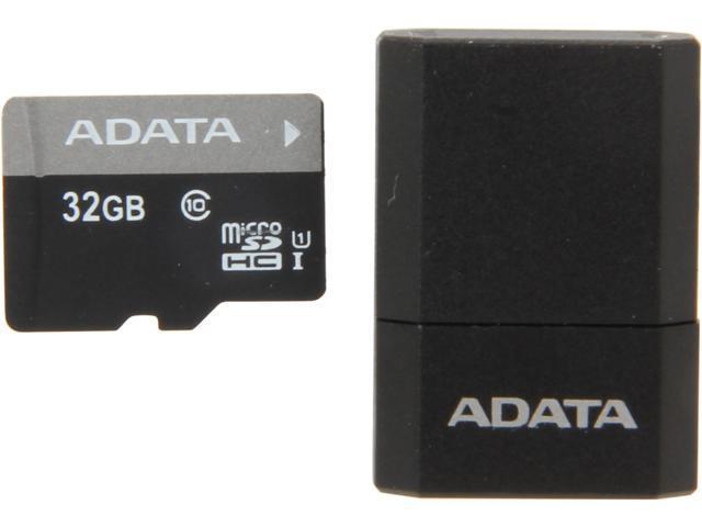 ADATA Premier 32GB microSDHC UHS-I CLASS 10 with V3 USB Reader (Black/Blue)