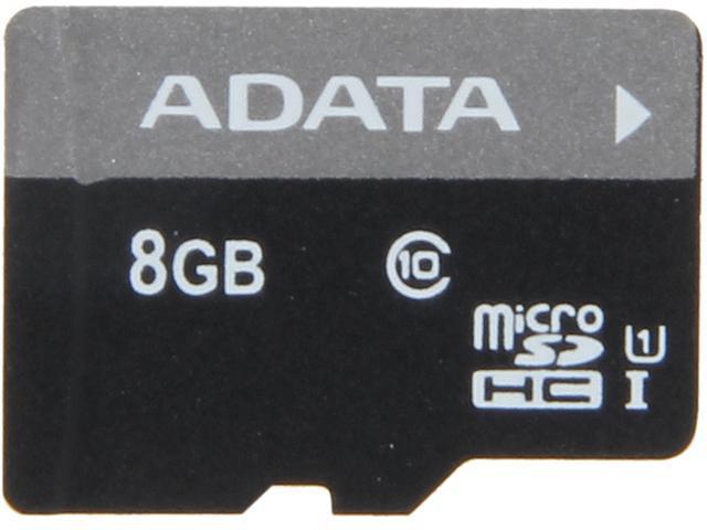 ADATA Premier 8GB microSDHC Class 10 Flash Card Model AUSDH8GUICL10-R