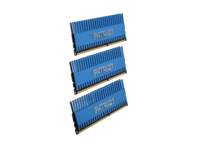 Patriot Viper 6GB (3 x 2GB) 240-Pin DDR3 SDRAM DDR3 1333 (PC3 10666) Desktop Memory Model PVT36G1333ELK