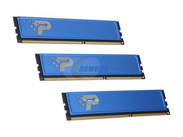 Patriot 3GB (3 x 1GB) 240-Pin DDR3 SDRAM DDR3 1066 (PC3 8500) Triple Channel Kit Desktop Memory Model PSD33G1066KH