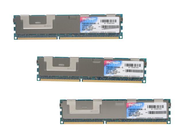 Patriot Signature 12GB (3 x 4GB) 240-Pin DDR3 SDRAM ECC Registered DDR3 1333 (PC3 10600) Server Memory Model PS312G13ER3K-E