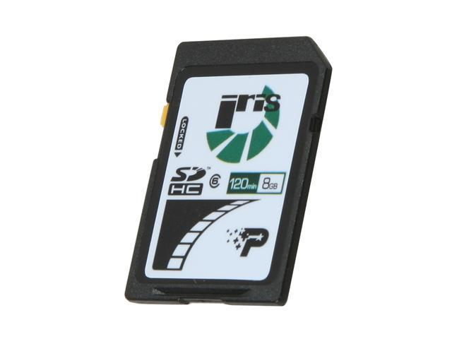 Patriot Iris 8GB Secure Digital High-Capacity (SDHC) Flash Card Model PSF8GISDHC6