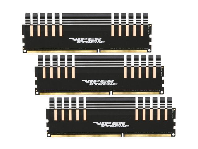 Patriot Viper Xtreme 6GB (3 x 2GB) 240-Pin DDR3 SDRAM DDR3 2000 (PC3 16000) Desktop Memory Model PX736G2000ELK