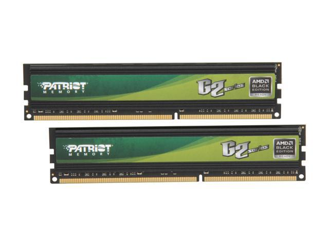 Patriot Gamer 2 Series 8GB (2 x 4GB) 240-Pin DDR3 SDRAM DDR3 1600 (PC3 12800) Desktop Memory Model PG238G1600ELKA