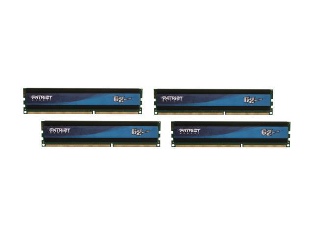 Patriot G2 Series Division 4 32GB (4 x 8GB) 240-Pin DDR3 SDRAM DDR3 1333 (PC3 10666) Desktop Memory Model PGQ332G1333ELQK