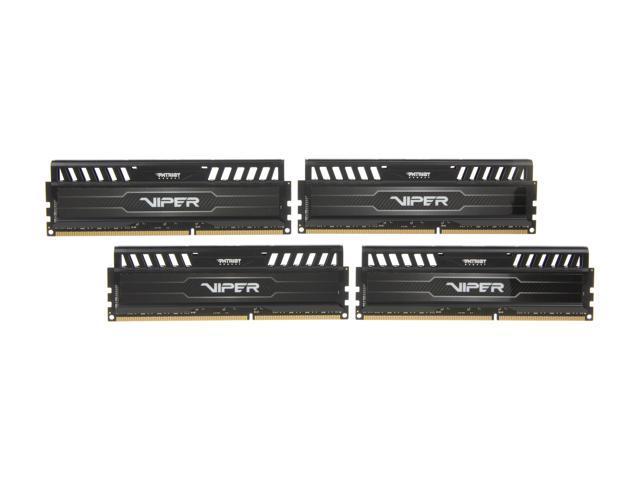 Patriot Viper 3 16GB (4 x 4GB) 240-Pin DDR3 SDRAM DDR3 1600 (PC3 12800) Desktop Memory Model PV316G160C9QK