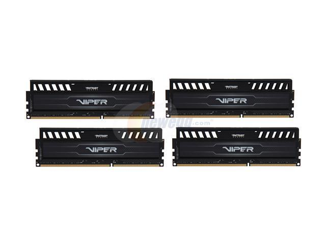 Patriot Viper 3 32GB (4 x 8GB) 240-Pin DDR3 SDRAM DDR3 1600 (PC3 12800) Desktop Memory Model PV332G160C0QK