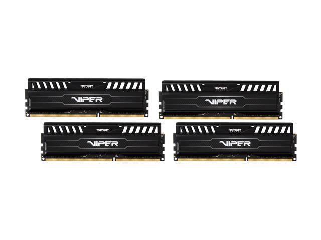 Patriot Viper 3 16GB (4 x 4GB) 240-Pin DDR3 SDRAM DDR3 1866 (PC3 15000) Desktop Memory Model PV316G186C9QK