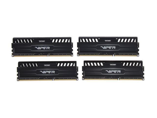 Patriot Viper 3 16GB (4 x 4GB) 240-Pin DDR3 SDRAM DDR3 2133 (PC3 17000) Desktop Memory Model PV316G213C1QK