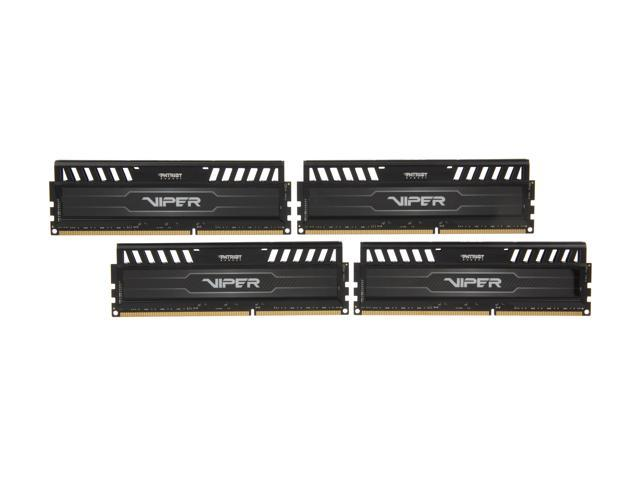 Patriot Viper 3 32GB (4 x 8GB) 240-Pin DDR3 SDRAM DDR3 2133 (PC3 17000) Desktop Memory Model PV332G213C1QK