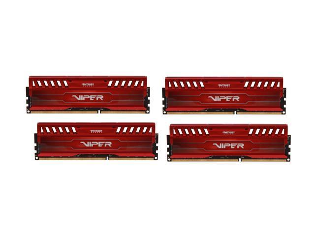 Patriot Viper 3 32GB (4 x 8GB) 240-Pin DDR3 SDRAM DDR3 2133 (PC3 17000) Desktop Memory Model PV332G213C1QKRD