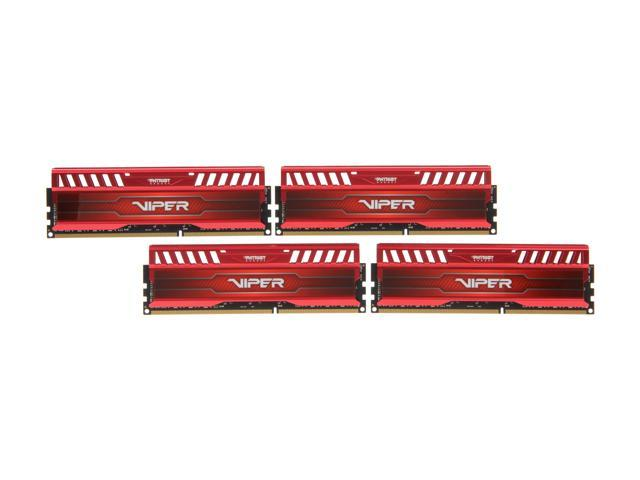 Patriot Viper 3 32GB (4 x 8GB) 240-Pin DDR3 SDRAM DDR3 1866 (PC3 15000) Desktop Memory Model PV332G186C0QKRD