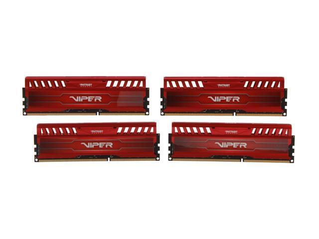 Patriot Viper 3 32GB (4 x 8GB) 240-Pin DDR3 SDRAM DDR3 1600 (PC3 12800) Desktop Memory Model PV332G160C9QKRD