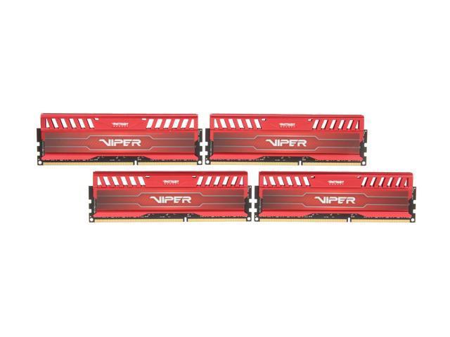 Patriot Viper 3 16GB (4 x 4GB) 240-Pin DDR3 SDRAM DDR3 2133 (PC3 17000) Desktop Memory Model PV316G213C1QKRD