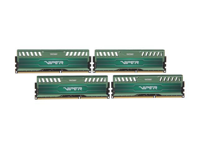 Patriot Viper 3 16GB (4 x 4GB) 240-Pin DDR3 SDRAM DDR3L 1600 (PC3L 12800) Desktop Memory Model PV316G160LC9QKG