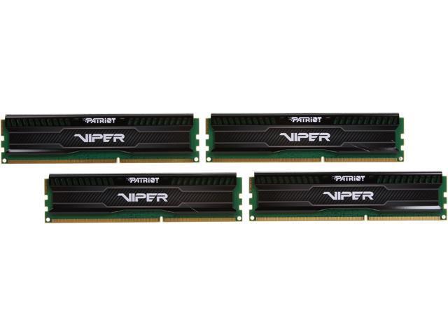 Patriot Viper 3 Low Profile Black 32GB (4 x 8GB) 240-Pin DDR3 SDRAM DDR3 1866 (PC3 15000) Desktop Memory Model PVL332G186C0QK