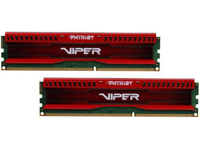 Patriot Viper 3 Low Profile Red 8GB (2 x 4GB) 240-Pin DDR3 SDRAM DDR3 1600 (PC3 12800) Desktop Memory Model PVL38G160C9KR