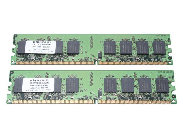gigaram 2GB (2 x 1GB) 240-Pin DDR2 SDRAM DDR2 667 (PC2 5300) Dual Channel Kit System Memory Model GR2DD8B-K2GB/667