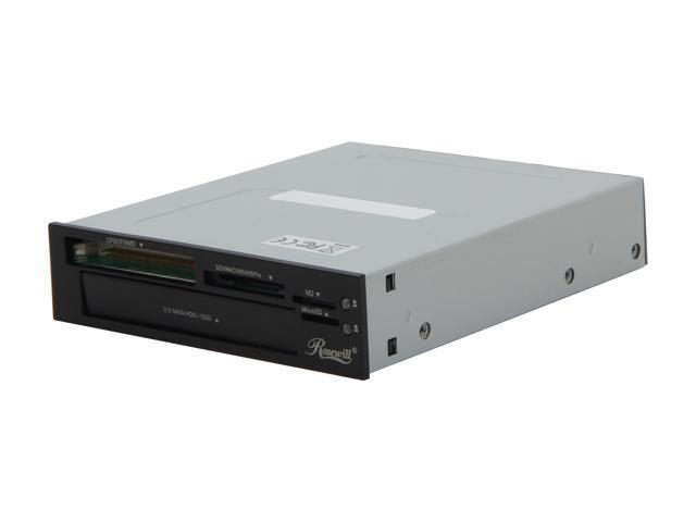 """Rosewill RDCR-12001 Multi-in-one USB 2.0 & SATA Internal Card Reader w/ 2.5"""" HDD/SSD Enclosure"""