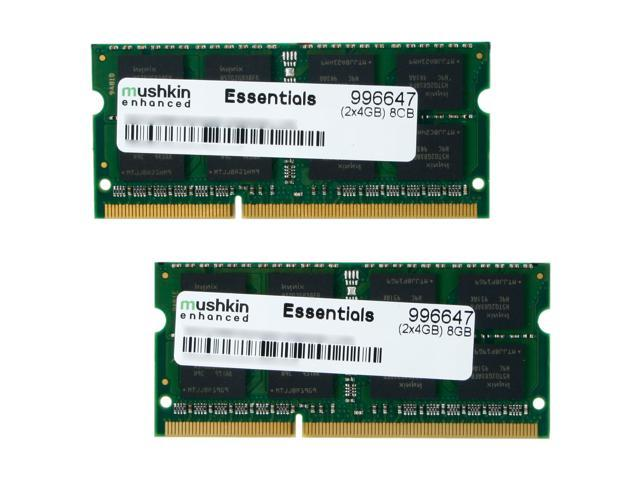 Mushkin Enhanced 8GB (2 x 4GB) 204-Pin DDR3 SO-DIMM DDR3 1333 (PC3 10666) Dual Channel Kit Laptop Memory Model 996647