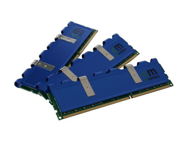 Mushkin Enhanced Blackline 6GB (3 x 2GB) 240-Pin DDR3 SDRAM DDR3 1600 (PC3 12800) Triple Channel Kit Desktop Memory Model 998659