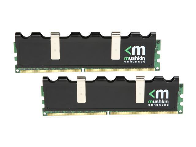 Mushkin Enhanced Blackline 2GB (2 x 1GB) 240-Pin DDR2 SDRAM DDR2 1066 (PC2 8500) Dual Channel Kit Desktop Memory Model 996684