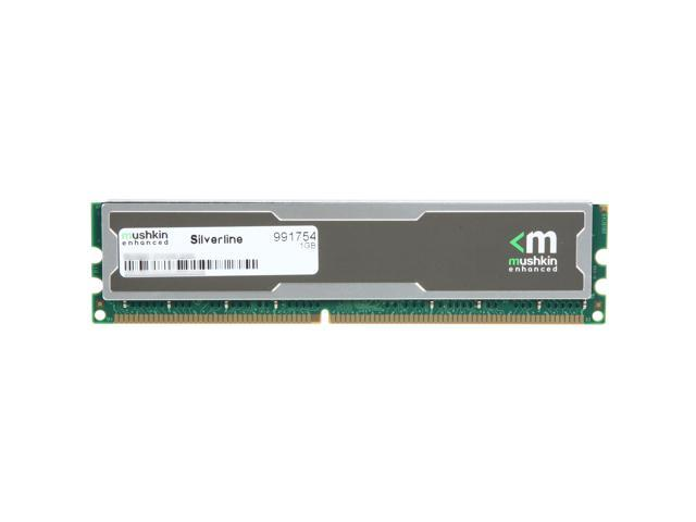 Mushkin Enhanced Silverline 1GB 184-Pin DDR SDRAM DDR 400 (PC 3200) Desktop Memory Model 991754