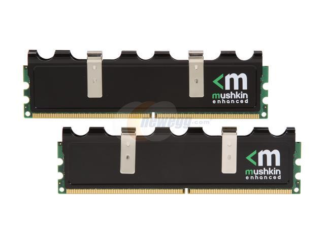 Mushkin Enhanced Blackline 4GB (2 x 2GB) 240-Pin DDR2 SDRAM DDR2 800 (PC2 6400) Desktop Memory Model 996587B