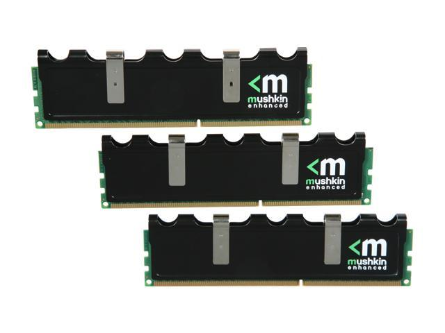 Mushkin Enhanced Blackline 6GB (3 x 2GB) 240-Pin DDR3 SDRAM DDR3 1600 (PC3 12800) Desktop Memory Model 998778