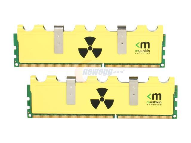 Mushkin Enhanced Radioactive 4GB (2 x 2GB) 240-Pin DDR3 SDRAM DDR3 1600 (PC3 12800) Desktop Memory Model 996958
