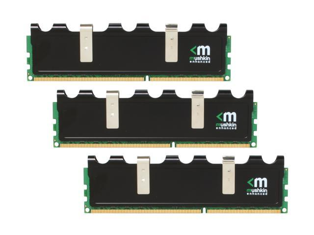 Mushkin Enhanced Blackline 6GB (3 x 2GB) 240-Pin DDR3 SDRAM DDR3 1600 (PC3 12800) Desktop Memory Model 998959