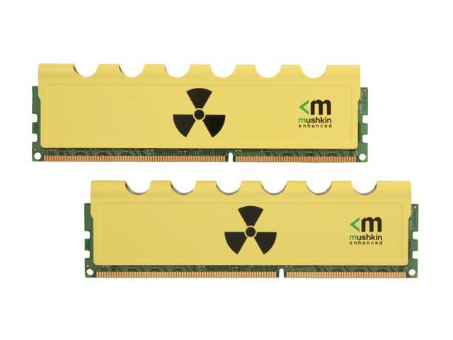 Mushkin Enhanced Radioactive 8GB (2 x 4GB) 240-Pin DDR3 SDRAM DDR3 1600 (PC3 12800) Desktop Memory Model 997006