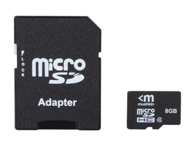 Mushkin Enhanced 8GB microSDHC Flash Card Model MKNUSDHCC4-8GB