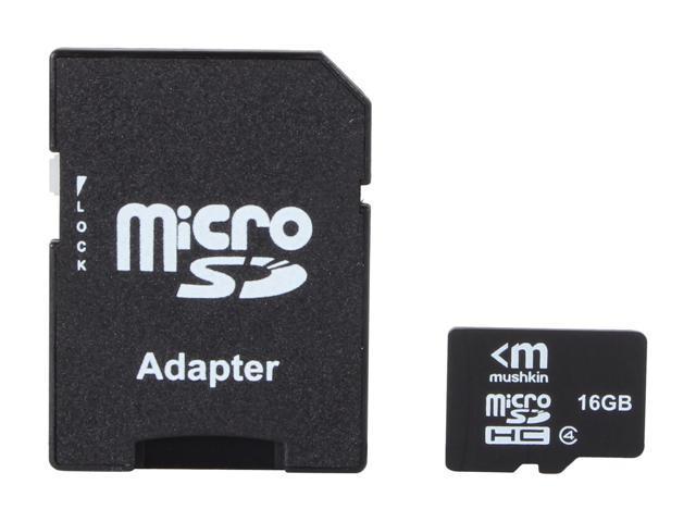 Mushkin Enhanced 16GB microSDHC Flash Card Model MKNUSDHCC4-16GB