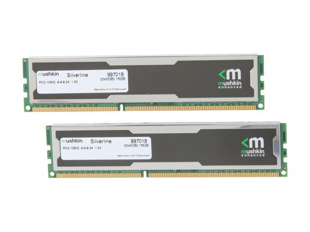 Mushkin Enhanced Silverline 16GB (2 x 8GB) 240-Pin DDR3 SDRAM DDR3 1333 (PC3 10600) Desktop Memory Model 997018