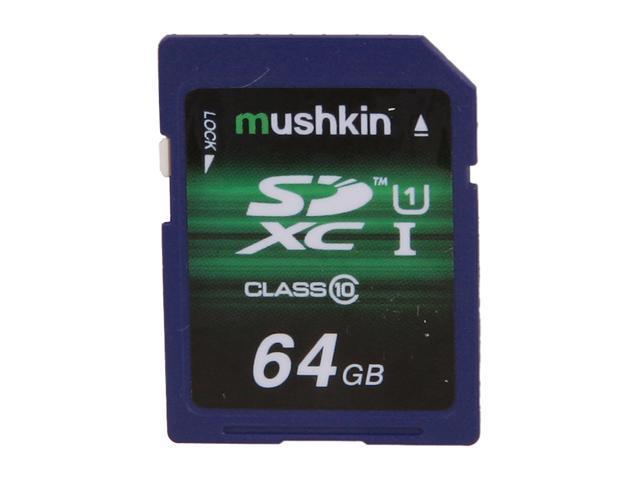 Mushkin Enhanced 64GB Secure Digital Extended Capacity (SDXC) Flash Card Model MKNSDXCU1-64GB