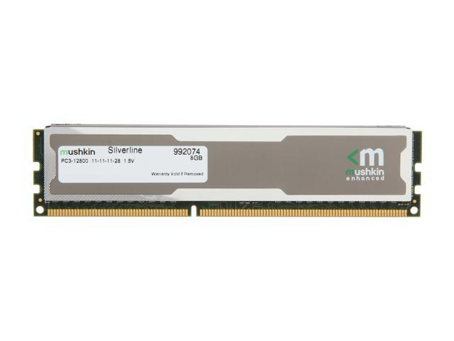 Mushkin Enhanced Silverline 8GB 240-Pin DDR3 SDRAM DDR3 1600 (PC3 12800) Desktop Memory Model 992074