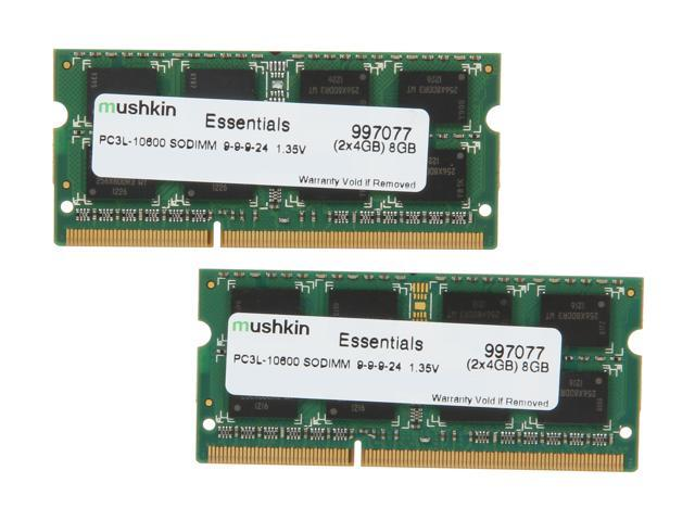 Mushkin Enhanced Essentials 8GB (2 x 4GB) 204-Pin DDR3 SO-DIMM DDR3L 1333 (PC3L 10600) Laptop Memory Model 997077
