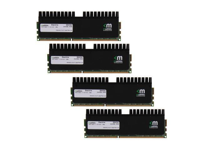 Mushkin Enhanced Blackline 16GB (4 x 4GB) 240-Pin DDR3 SDRAM DDR3 2400 (PC3 19200) Desktop Memory Model 994093