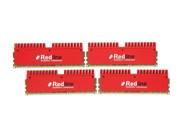 Mushkin Enhanced Redline 32GB (4 x 8GB) 240-Pin DDR3 SDRAM DDR3 1600 (PC3 12800) Desktop Memory Model 994103