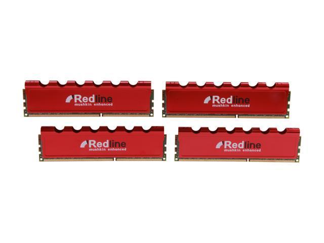 Mushkin Enhanced Redline 32GB (4 x 8GB) 240-Pin DDR3 SDRAM DDR3 1866 (PC3 14900) Desktop Memory Model 994104
