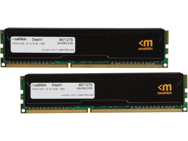 Mushkin Enhanced Stealth 8GB (2 x 4GB) 240-Pin DDR3 SDRAM DDR3 2666 (PC3 21300) Desktop Memory Model 997127S